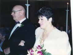 My 2nd Wedding Jan. 3, 1992 Dad escorts me down the aisle.