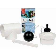 "WDDS98 Rain Harvesting |4"" Round Downpipe First Flush Water Diverter Kit"