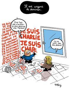 Il est urgent de dessiner par Vidberg http://vidberg.blog.lemonde.fr/2015/01/07/il-est-urgent-de-dessiner/