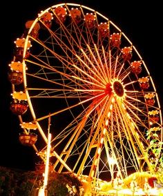 Orange ferris wheel - brings back great childhood memories :) Amusement Park Rides, Carnival Rides, Fun Fair, Summer Bucket Lists, World Best Photos, Happy Colors, Beautiful Places To Visit, Summer Of Love, Summer Days