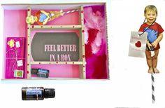 Feel better in a Box. Ideas to cheer someone who's sick up, ideas to make someone feel better.  DIY ideas, craft ideas, easy gift ideas. www.fatveganbaby.com