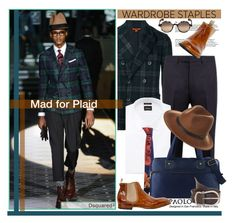 """Mad for Plaid and PaoloShoes"" by paoloshoes ❤ liked on Polyvore featuring Barena, Gucci, Neiman Marcus, Vivienne Westwood, Jacki Design, RHYTHM, Mykita, men's fashion, menswear and plaid"