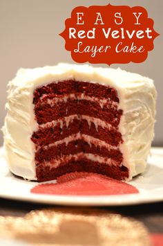 Easy Red Velvet 5 Layer Cake made using the Wilton 5 Layer Cake Pan Set