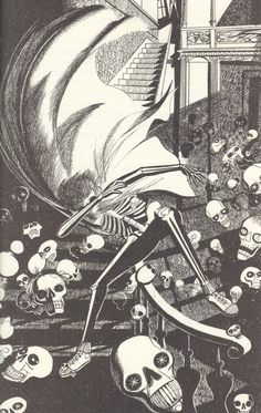 """The Halloween Tree"" by Ray Bradbury illustrated by Joseph Mugnaini"