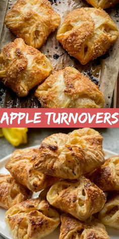 An apple turnover has a slightly crispy outer layer with juicy, homemade, warm apple filling that creates the perfect spot for your teeth to sink into. Apple Turnover Recipe, Turnover Recipes, Apple Tartlets Recipe, Puff Pastry Desserts, Puff Pastry Recipes, Apple Dessert Recipes, Apple Recipes, Savoury Recipes, Apple Turnovers With Puff Pastry