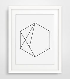 Hexagon Art, Minimal Geometric Print, Simple Wall Art, Hexagon Print, Geometric Wall Art, Modernist Home Decor, Hexagon Printable by MelindaWoodDesigns on Etsy https://www.etsy.com/listing/185341295/hexagon-art-minimal-geometric-print