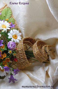 """Купить Полевой букет """"Разнотравье"""" - ромашки, колокольчики, земляника, лоза, Плетение из лозы, клевер"""