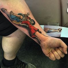 What does one piece tattoo mean? We have one piece tattoo ideas, designs, symbolism and we explain the meaning behind the tattoo. Cover Up Tattoos, Body Art Tattoos, Sleeve Tattoos, Cool Tattoos, Chest Piece Tattoos, Pieces Tattoo, Pirate Back Piece Tattoo, Shoulder Piece Tattoo, Monkey D. Luffy