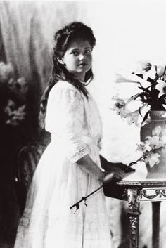 """imperial-russia: """"Grand Duchess Maria Nikolaevna of Russia in 1910 """"""""She was enchantingly pretty in a very rounded Russian way, with a glowing peaches-and-cream complexion, a full mouth, and lustrous..."""
