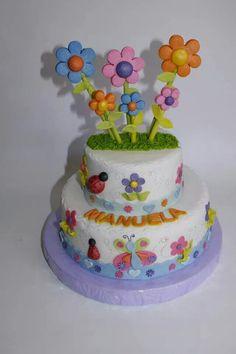 Torta Flores 100% Comestible.