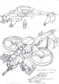 Union of Colonies Fanrotor Gunship  by TugoDoomER