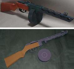 PAPERMAU: WW2`s Russian PPSH-41 Submachine Gun Paper Model In 1/1 Scale by Shikisha
