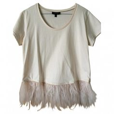 Pre-owned TOPSHOP Beige Cotton Top ($39) ❤ liked on Polyvore featuring tops, t-shirts, topshop, beige top and topshop tops