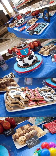 Birthday Party at Davie Ranch by B. Photography Studio Cowboy Birthday Party at Davie Ranch by B. Photography Studio - The Celebration SocietyCowboy Birthday Party at Davie Ranch by B. Photography Studio - The Celebration Society Rodeo Birthday Parties, Cowboy First Birthday, 1st Boy Birthday, Birthday Ideas, Birthday Celebration, Cowboy Birthday Cakes, Football Birthday, Cake Birthday, Cowboy Party
