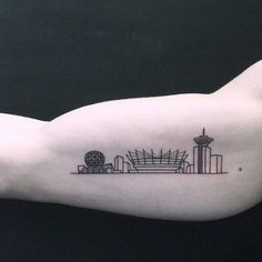 Gallery of 118 Impressive Architecture Tattoo Designs - 62 Tattoo Muster, Tattoo Motive, Original Tattoos, Tattoos For Guys, Tattoos For Women, Cool Tattoos, Beautiful Tattoos, Tatoo Biceps, Vancouver Tattoo