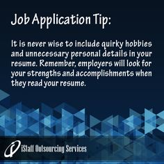 hobbies for job application