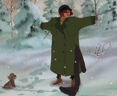Anya is released from the Russian orphanage and she sings 'Journey to the Past' in 'Anastasia' (20th Century Fox)