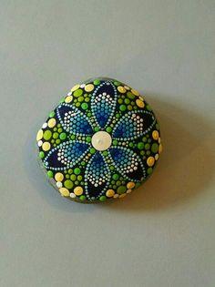 Hand-painted stone by Miranda Pitrone