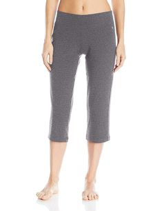 74a9adc9e7108 Danskin Womens Sleek Fit Yoga Crop Pant at Amazon Womens Clothing store  Athletic Sweatpants, Amazon