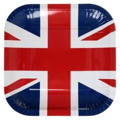 Assiette Angleterre drapeau anglais carton pas chère, Assiette Angleterre drapeau union jack ronde 23 cm les 10, assiette carton plate, art de table, vaisselle jetable, wedding, mariage, fêtes, anniversaire, Londres, london, table festive