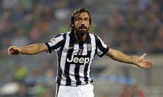 Juventus\' Pirlo reacts during their Italian Serie A soccer match against Sassuolo in Reggio Emilia