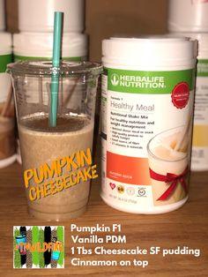 Herbalife Shake Recipes, Protein Shake Recipes, Herbalife Nutrition, Protein Foods, Protein Smoothies, Herbal Life Shakes, Pumpkin Shake, Juicy Juice, Healthy Shakes
