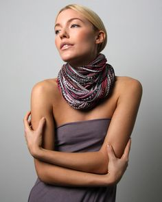 Infinity scarf necklace circle by Necklush