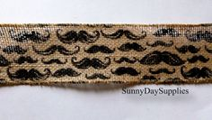 Wide Burlap Mustache Ribbon  Burlap or Jute by SunnyDaySupplies, $3.89