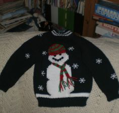 Snowman Sweater  Size 4  Perfect for Christmas by Susansweaters, $30.00