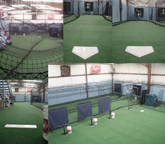 See Cages Can Be Pushed Back For However Much Room Is Needed Then Teams Baseball Trainingsports Trainingindoor