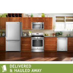 Maytag 4-pc Stainless Steel GAS Bottom Mount Kitchen Suite