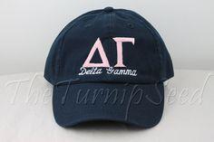 Delta Gamma Sorority Baseball Cap by TheTurnipSeed, $12.00