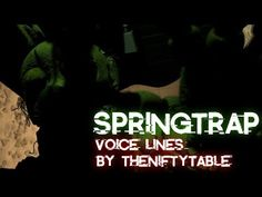 [FNAF/SFM] Springtrap Voice Lines   Voice by theniftytable - YouTube Real Zombies, Fnaf Song, The Voice, The Creator, Songs, Youtube, Song Books, Youtubers, Youtube Movies