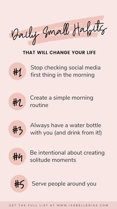 Daily Small Habits To Change Your Life For The Better (How To)