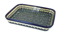Polish Pottery Renaissance Medium Rectangular Baker >>> Check out this great image @