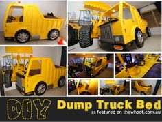 DIY Dump Truck Bed - he would go crazy for this!