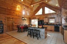 Full Kitchen Dining Seats 8 Luray Log Home Rental Cabins In Virginia, Luray Virginia, Virginia Vacation, Little Cabin, Cabin Rentals, Log Homes, Perfect Place, Kitchen Dining, Places