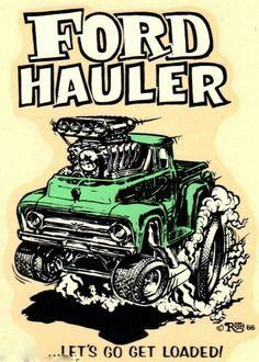☯☮ॐ American Hippie Art by ED Roth rat Fink Ford Hot Rod Trucks, Cool Trucks, Cool Cars, Pickup Trucks, Chevrolet Silverado, Silverado 1500, Ed Roth Art, Cool Car Drawings, Hot Rod Pickup