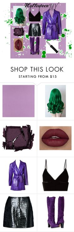 """Female!Joker costume"" by kalinapalacios14 ❤ liked on Polyvore featuring Casadeco, Surratt, Yves Saint Laurent, T By Alexander Wang, Jolie By Edward Spiers, halloweencostume and DIYHalloween"