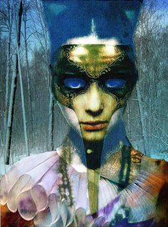 """""""Winter Bird""""  – fine art giclee print of a digital photo fusion collage – by artist Lyse Marion"""