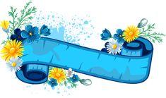 View album on Yandex. Ribbon Png, Ribbon Banner, Diy Ribbon, Frame Floral, Flower Frame, Fan Blade Art, Floral Banners, Clip Art, Borders And Frames