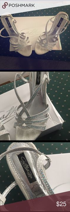 Cathy Din Silver Sandle Abbey Size 8 Worn once Cathy Din Silver Sandle Abbey Size 8 Worn once - excellent condition - with box Cathy Din Shoes
