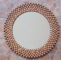 Wine cork images best for home and restaurant decor Wine Cork Crafts, Wine Bottle Crafts, Cork Frame, Cork Table, Cork Art, Tapas, Decoration, Diy Corks, Projects To Try
