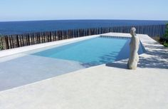 Piscina suelo microcemento Swiming Pool, Swimming, Small Pools, Summer Pool, Stamped Concrete, Flooring, Places, Outdoor Decor, Design