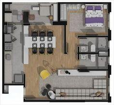 apartamento planta tipo opcao 2 69,32