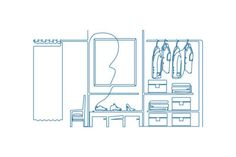 One line wardrobe - illustrations designed for Tap-Tab magnets by FreeThree