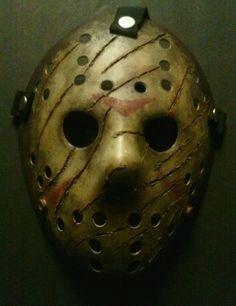 Freddy Vs Jason Halloween Mask Battle Damaged Friday The 13th Voorhees Horror