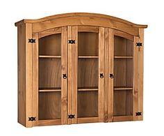 Vitrina de madera de pino con 3 puertas Chris