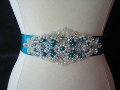Hey, I found this really awesome Etsy listing at http://www.etsy.com/listing/176940560/bridal-sash-wedding-dress-sash-belt