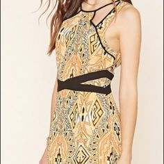 NWT Forever 21 orange print maxi dress. NWT really pretty & slimming Forever 21 orange print maxi dress. Size L. Chiffon/style material. Forever 21 Dresses Maxi